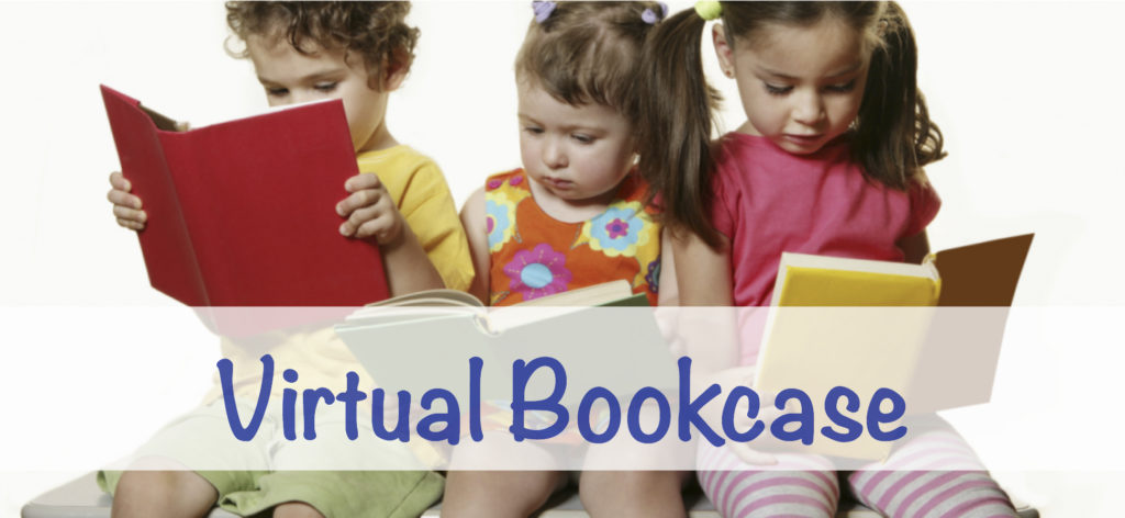 Virtual bookcase banner