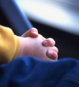 child hands prayer