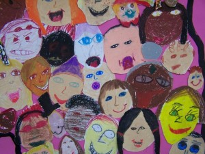 school child children collage craft
