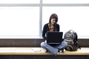 online learning teen laptop computer