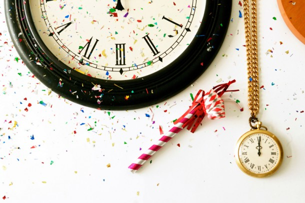 new years eve time clock