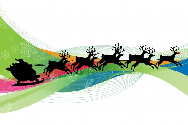 santa claus reindeer Christmas