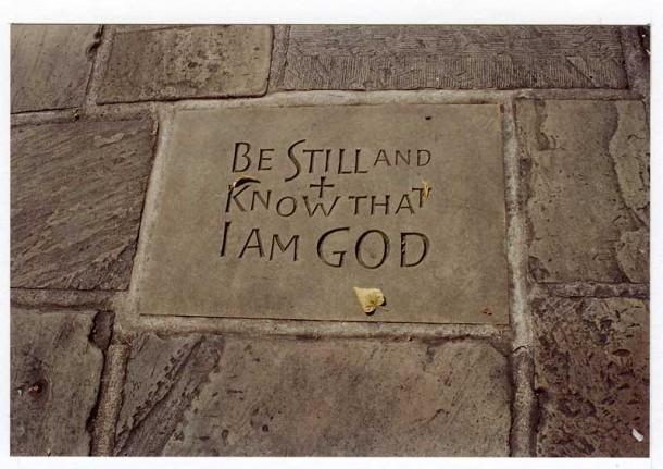 A Reflection: Letting God Be God