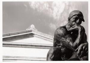 wisdom thinking man statue