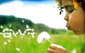 nature child flower