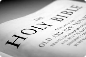 Holy Bible close