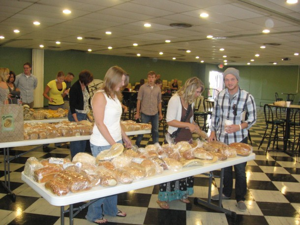 Bread food Pantry service group young adults mission