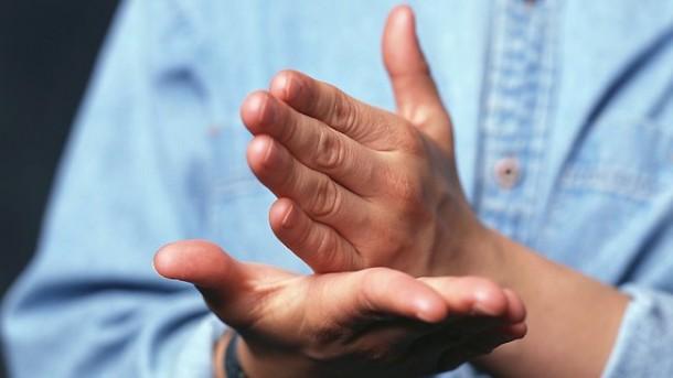 Praying in Church with Sign Language