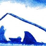 Blue Manger Christmas