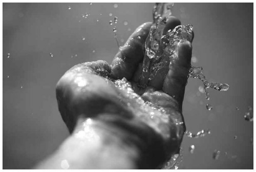 water hand life baptism Water In Hand