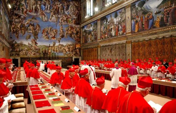 papal conclave vatican cardinals sistine chapel