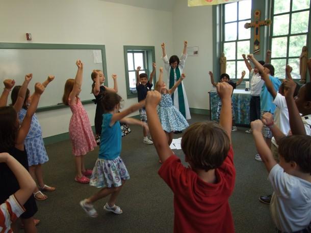 Telling Bible Stories in Children's Chapel