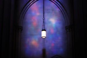 church lantern purple Lent flickr