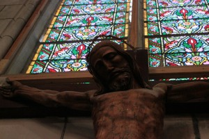 Jesus Statue window