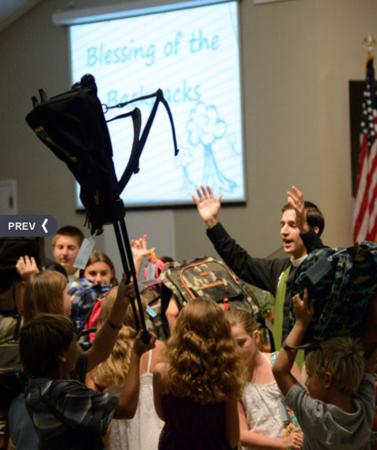 Blessing of Backpacks St. Mary's