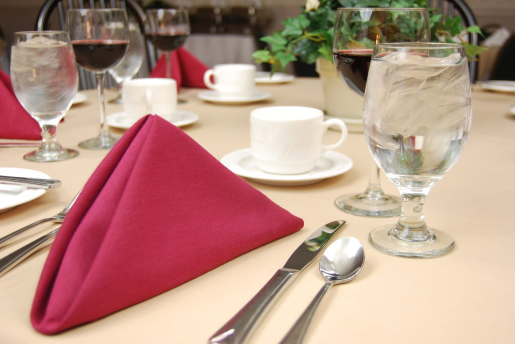 Place Setting restaurant plate glass