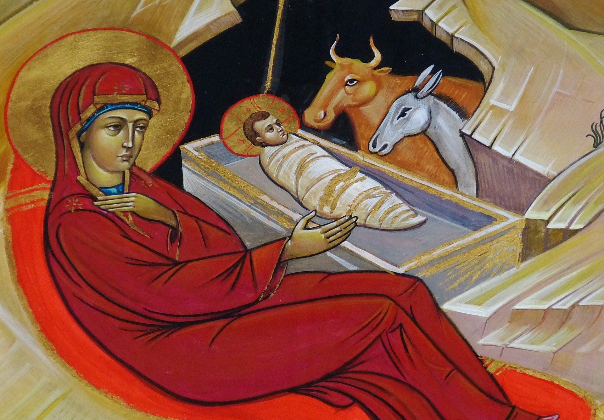 nativity icon Jesus Mary Christmas