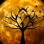 tree moon halloween