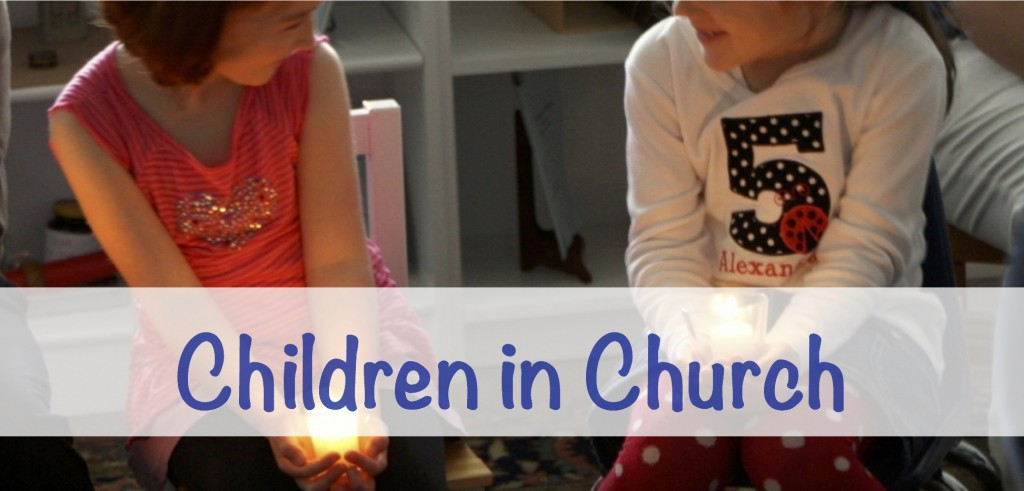 Children in Church banner