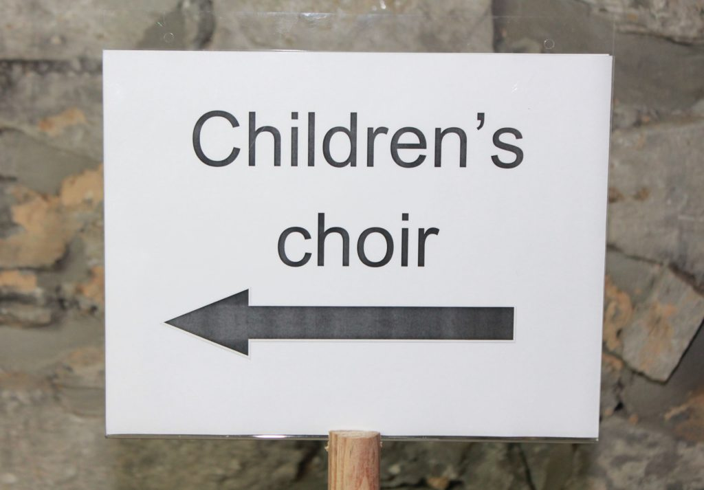Children's choir sign