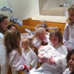 Angels Jesus girls Christmas pageant