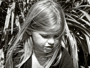 child black and white
