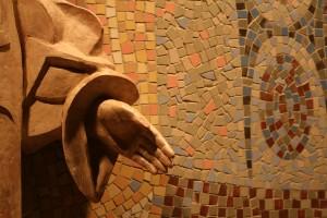 Jesus Statue mosaic