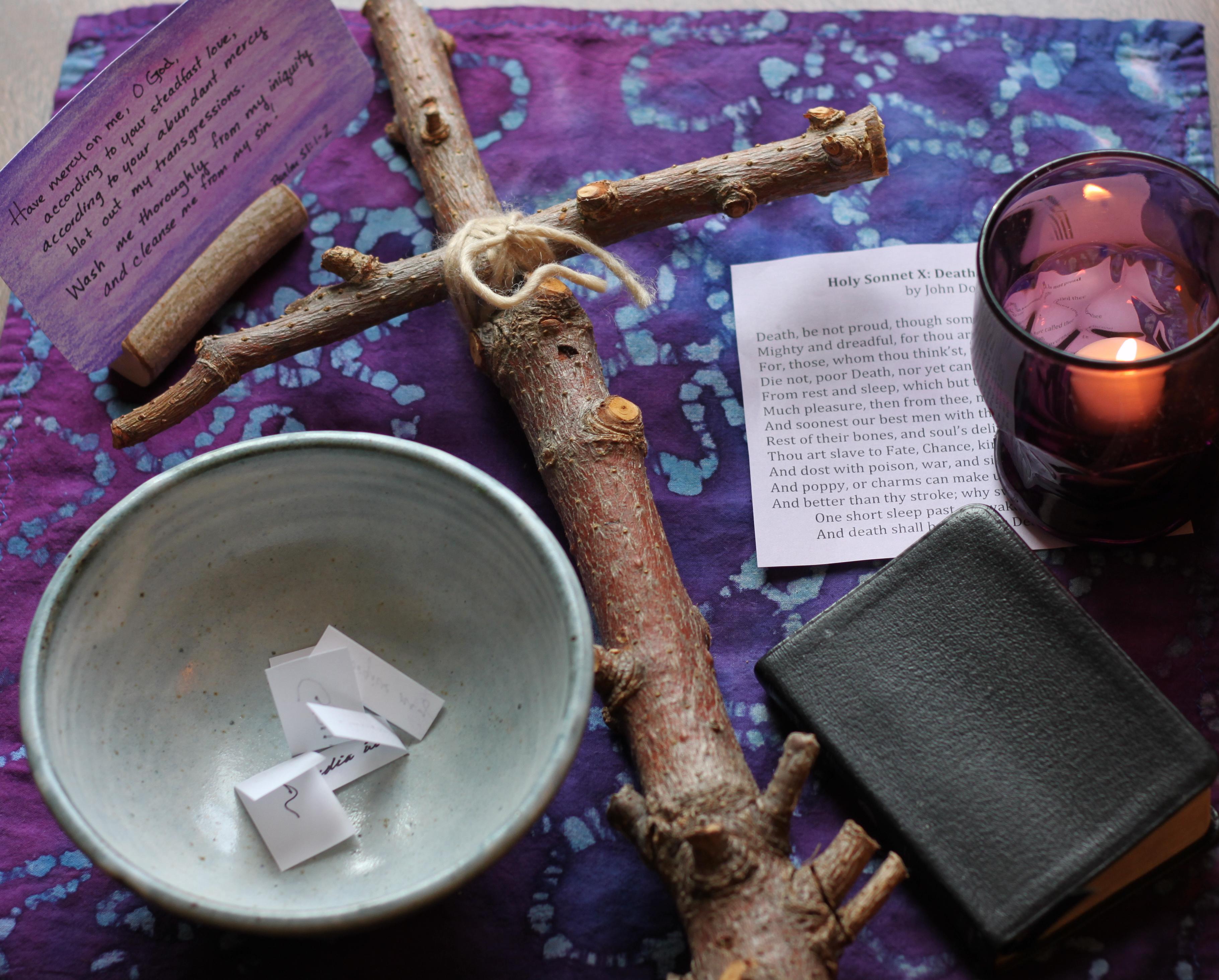 Creating a Lenten Prayer Space at Home