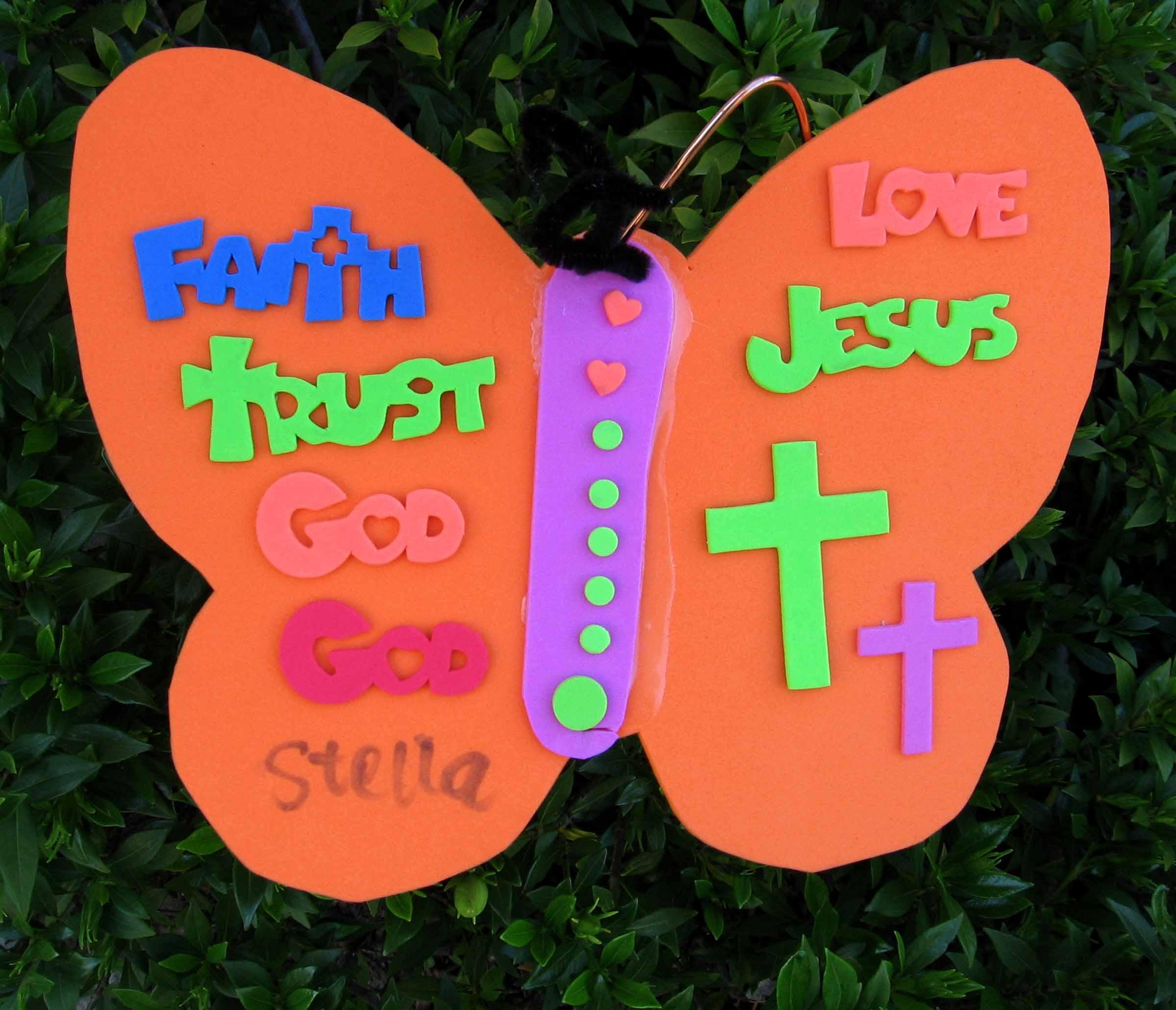 Making Easter Butterflies, Alleluia!