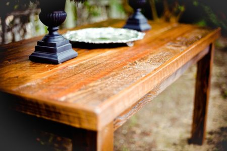 empty wood table