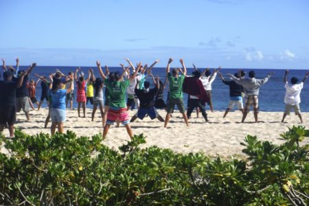 Hawaii beach exercise