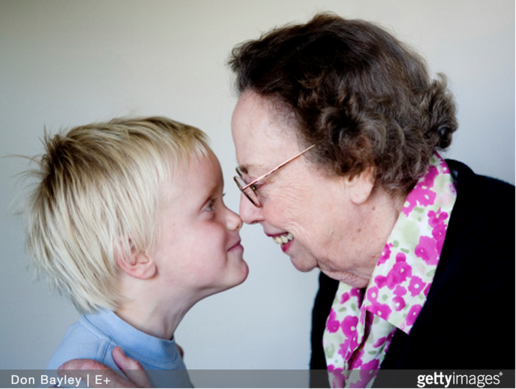 Intergenerational woman and boy child GETTY