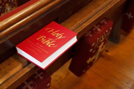 Bible church pew