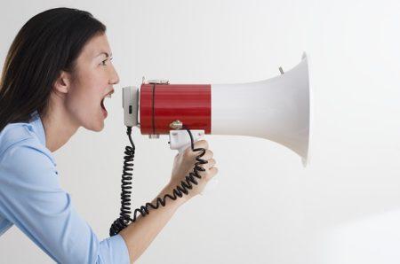 megaphone shout