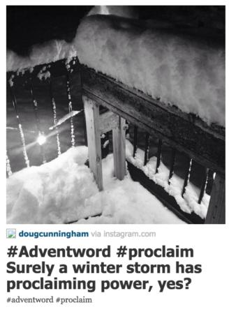 Advent Word post