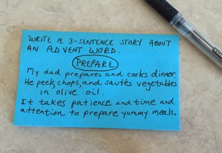 Prepare Three Sentence Story