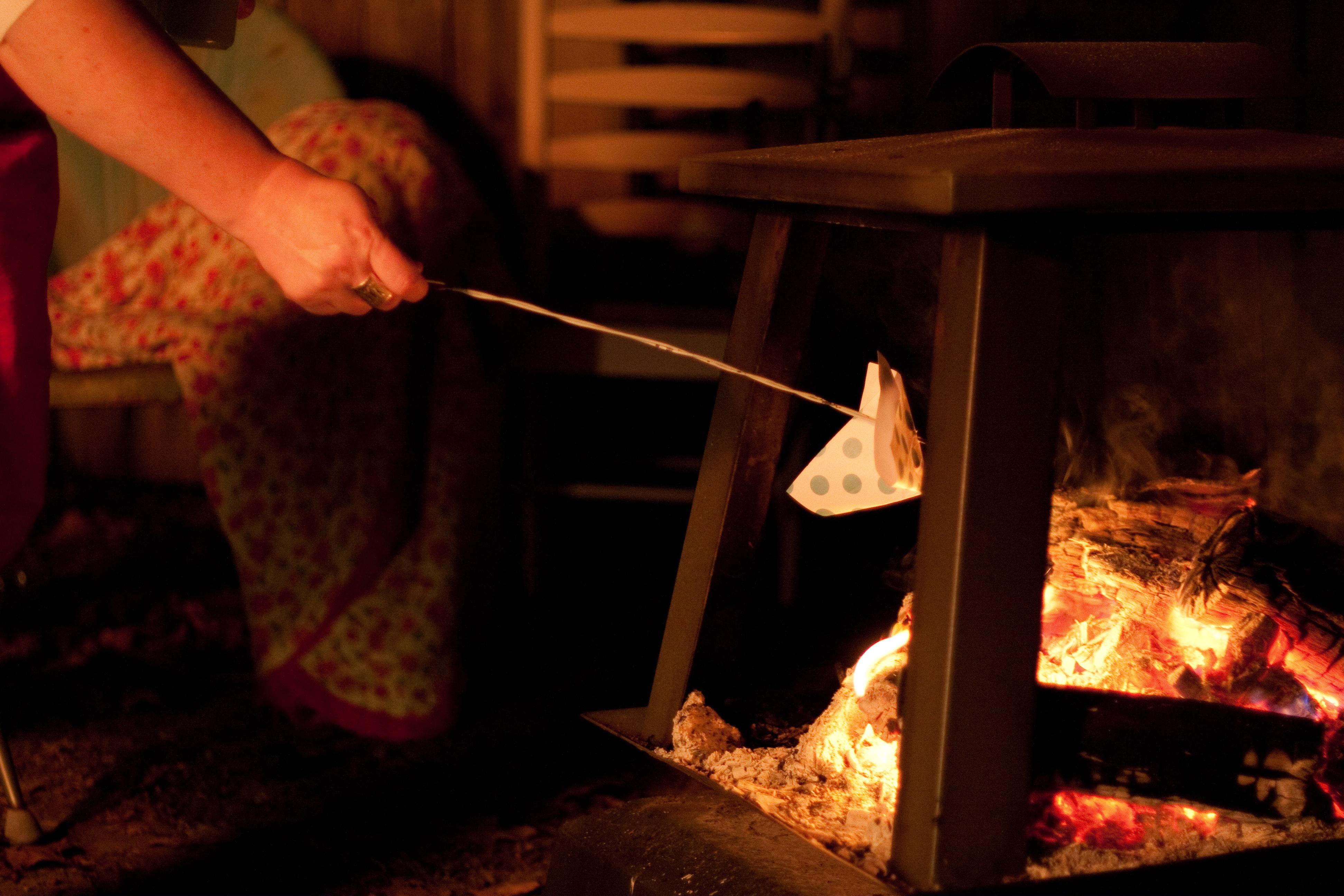 Ash Wednesday Bonfire at Home