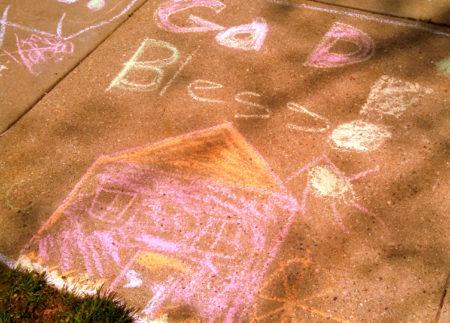 chalk on sidewalk2