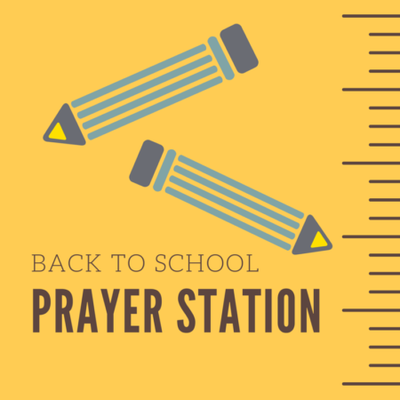 Back to School Prayer Station