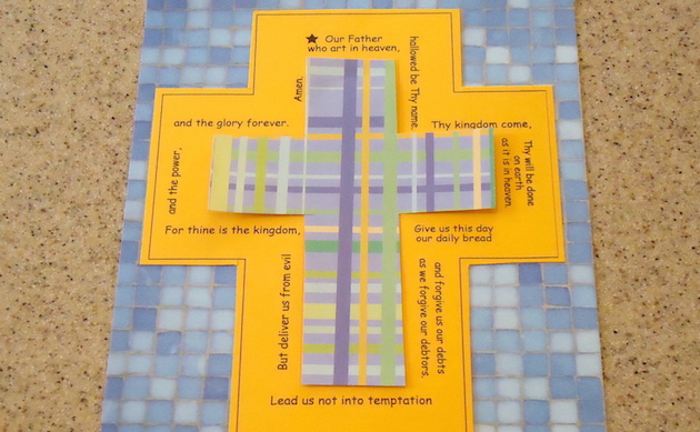 Activity for Lent: Lord's Prayer Tracing Cross