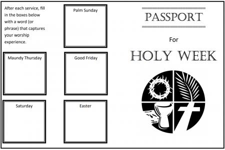 image regarding Printable Passports titled Holy 7 days Pports
