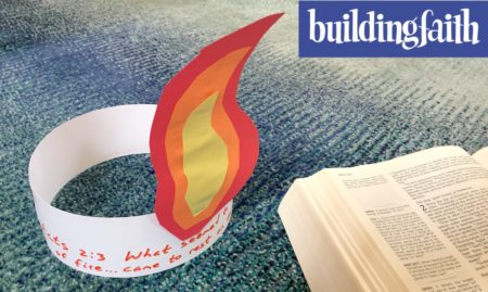 Pentecost Activity: Tongue of Fire Hat