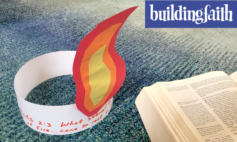 pentecost tongues of fire headband craft