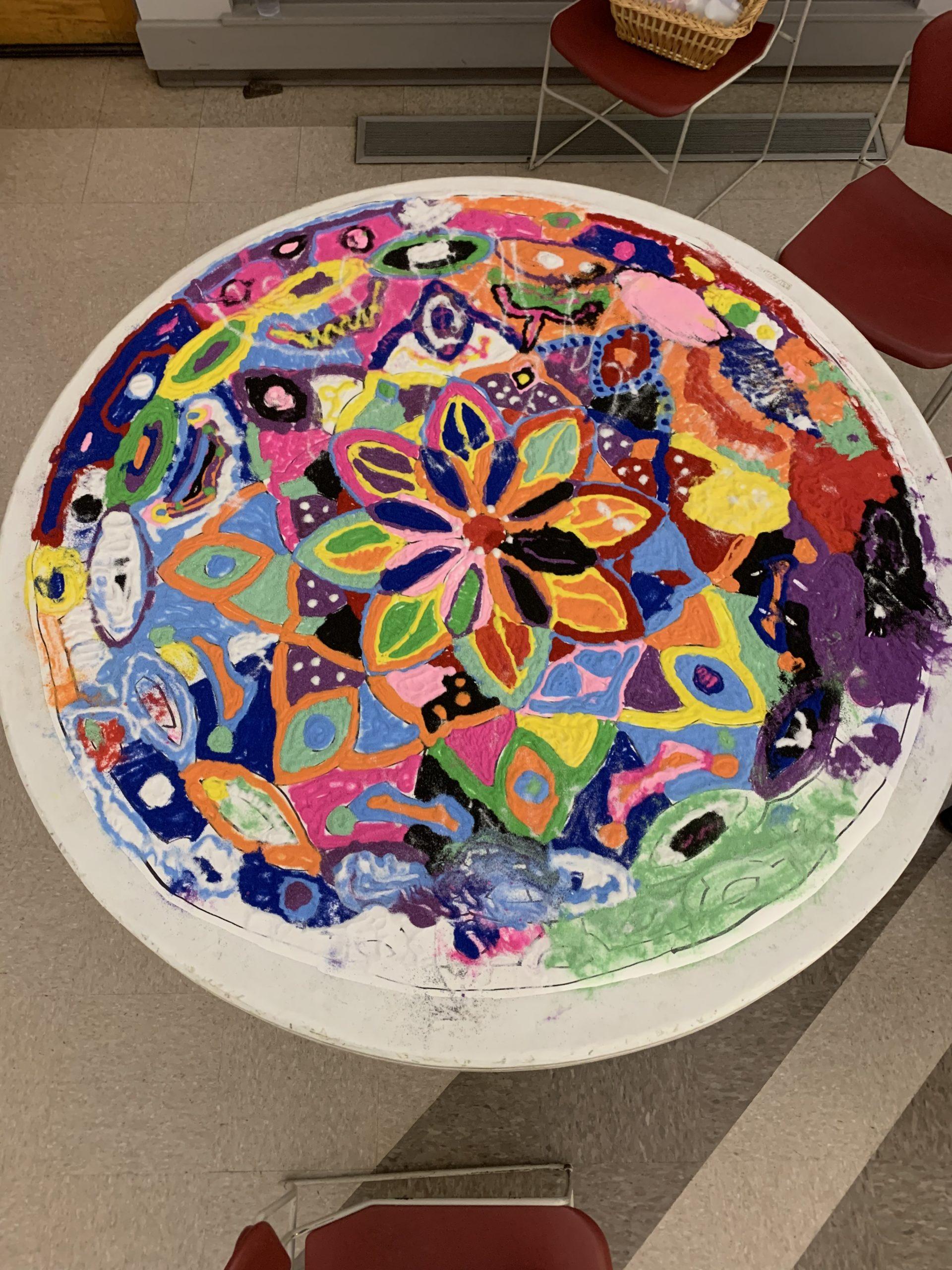 Creating Meditative Space with A Sand Mandala