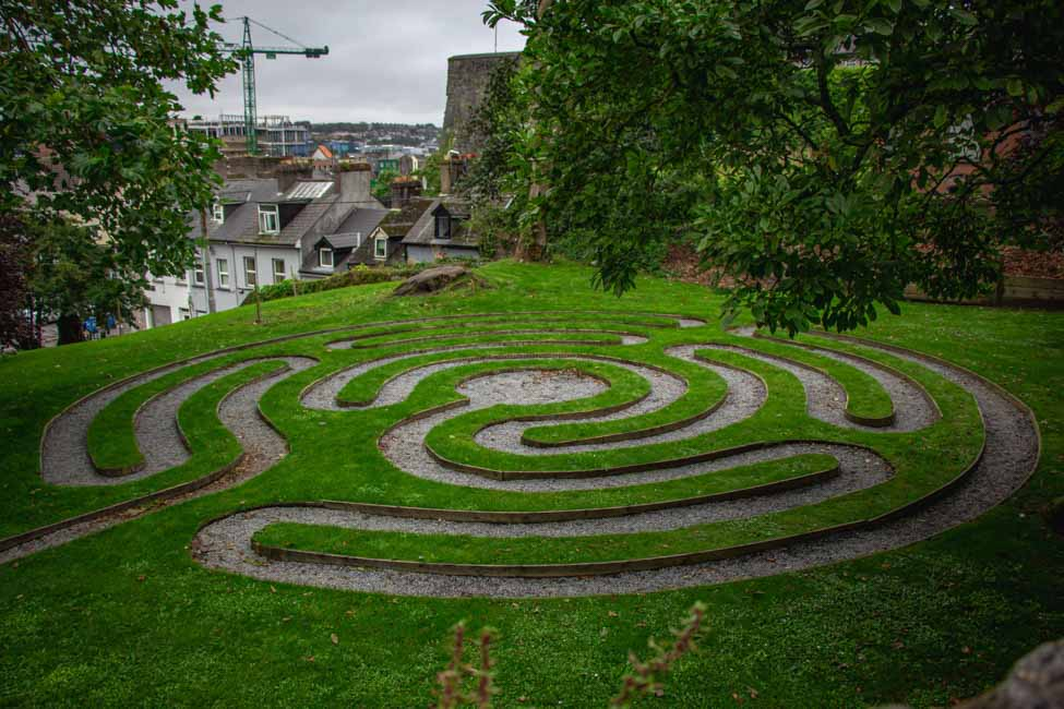 Walking a Labyrinth in a Distanced Manner